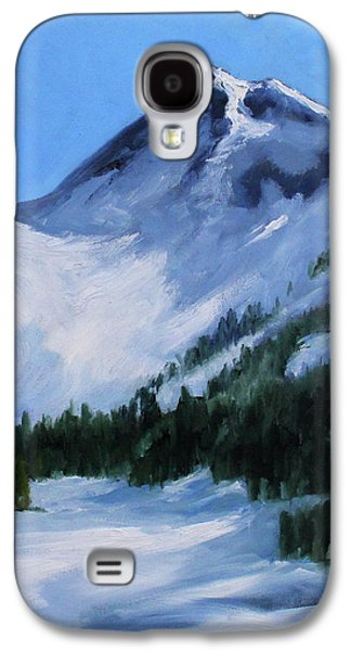 Galaxy S4 Case featuring the painting Mount Baker Glacier by Nancy Merkle