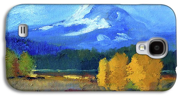 Galaxy S4 Case featuring the painting Mount Hood by Nancy Merkle
