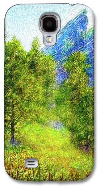 Mountain Field Springtime Galaxy S4 Case