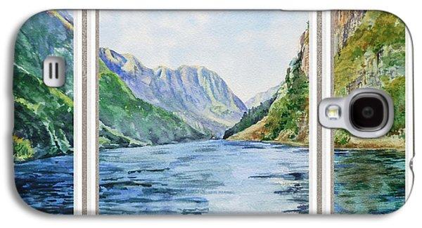 Mountain Lake View Window  Galaxy S4 Case