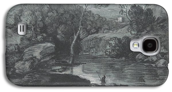 Mountain Landscape With A Castle And A Boatman Galaxy S4 Case by Thomas Gainsborough