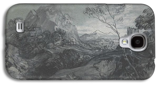 Mountain Landscape With Figures And Buildings Galaxy S4 Case by Thomas Gainsborough