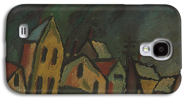 Mountain Landscape With Houses Galaxy S4 Case by Alexej von Jawlensky