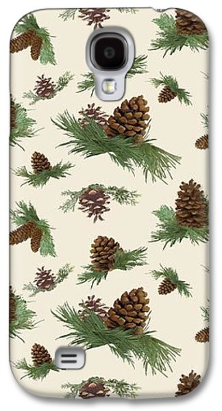 Mountain Lodge Cabin In The Forest - Home Decor Pine Cones Galaxy S4 Case by Audrey Jeanne Roberts