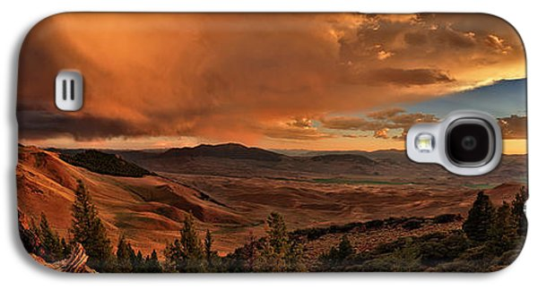 Mountain Sunset Galaxy S4 Case by Leland D Howard