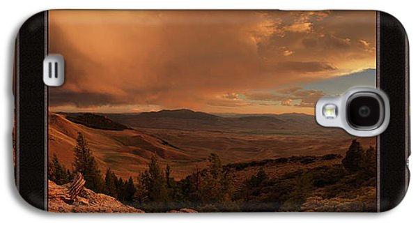 Mountain Sunset Triptych Galaxy S4 Case