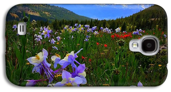 Galaxy S4 Case featuring the photograph Mountain Wildflowers by Karen Shackles