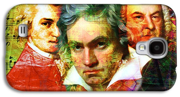 Mozart Beethoven Bach 20140128 Galaxy S4 Case by Home Decor