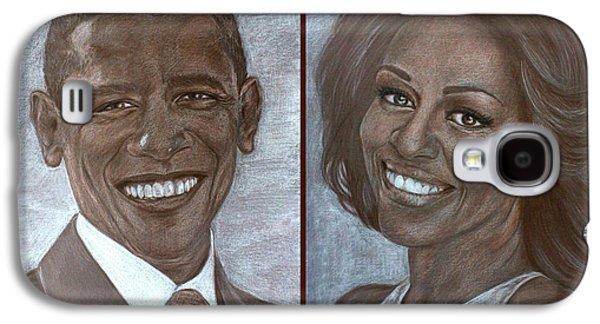 Mr And Mrs Obama Galaxy S4 Case by Tetiana Rudnevska
