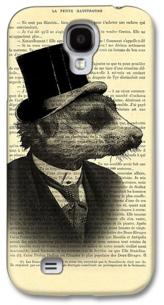 Meerkat Portrait In Black And White Galaxy S4 Case by Madame Memento