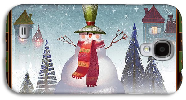 Mr. Snowman Galaxy S4 Case by Kristina Vardazaryan