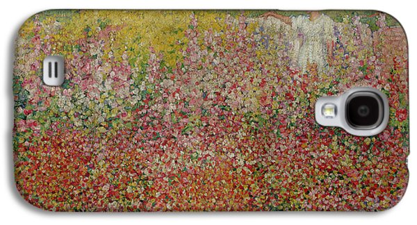 Mrs Russell Amongst The Flowers At Belle Isle Galaxy S4 Case by John Peter Russell