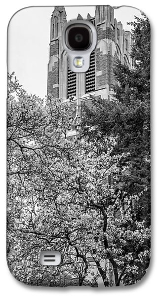Michigan State Galaxy S4 Case - Msu Beaumont Tower Black And White 3 by John McGraw
