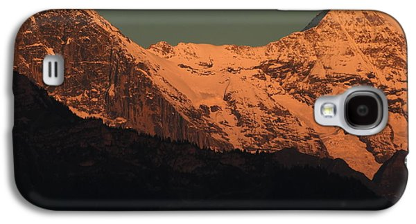 Mt. Eiger And Mt. Moench At Sunset Galaxy S4 Case