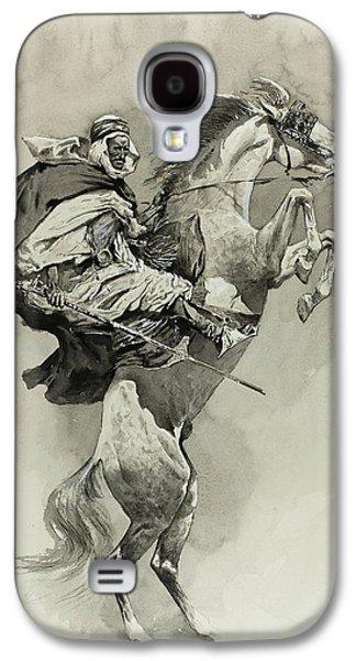 Mubarek The Arabian Chief Galaxy S4 Case by Frederic Remington