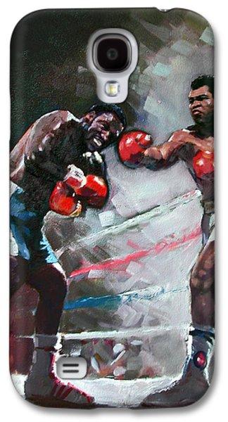 Muhammad Ali And Joe Frazier Galaxy S4 Case by Ylli Haruni