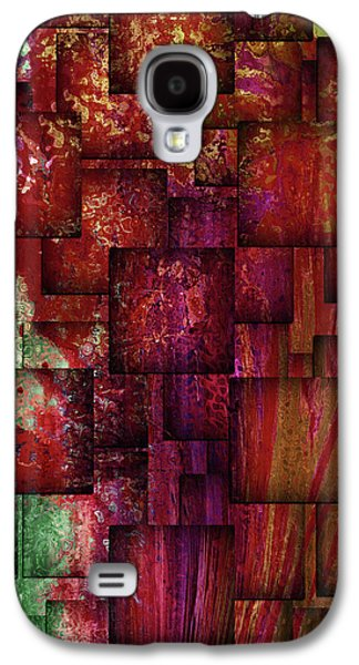 Mulberry Wine Contemporary Abstract Art Galaxy S4 Case