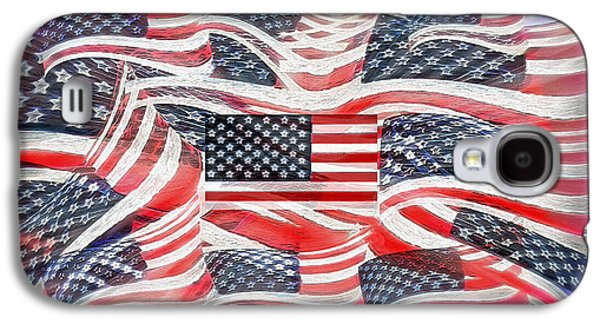Multi - Flag Abstract  Galaxy S4 Case by Steve Ohlsen
