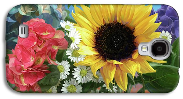 Daisy Galaxy S4 Case - Multicolor Flowers by Lucie Bilodeau