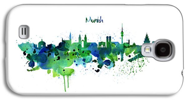 Munich Skyline Silhouette Galaxy S4 Case
