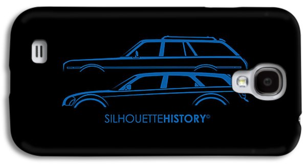 Muscle Wagon Silhouettehistory Galaxy S4 Case by Gabor Vida