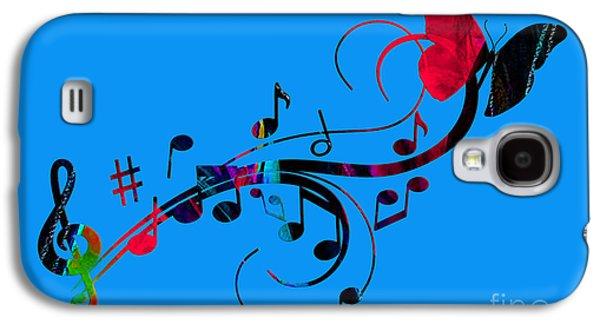 Music Flows Collection Galaxy S4 Case by Marvin Blaine