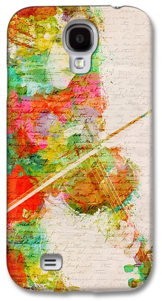 Grunge Galaxy S4 Cases - Music In My Soul Galaxy S4 Case by Nikki Smith