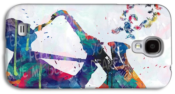 Music  Galaxy S4 Case by Mark Ashkenazi