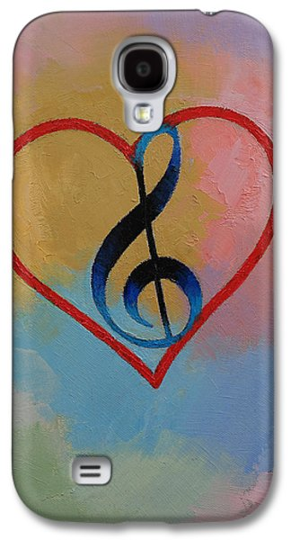 Music Note Galaxy S4 Case by Michael Creese