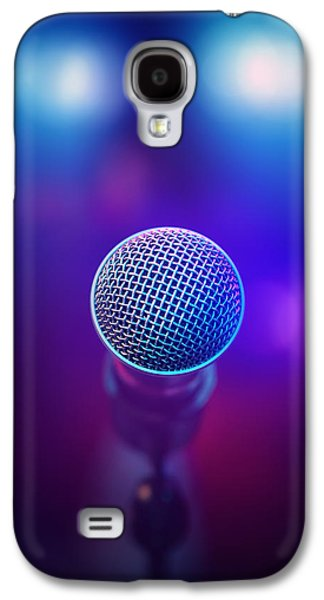 Musical Microphone On Stage Galaxy S4 Case by Johan Swanepoel