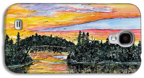 Musky Sunset Galaxy S4 Case by Linda Steine
