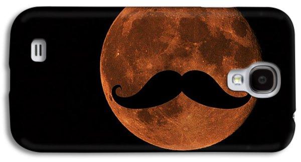 Mustache Moon Galaxy S4 Case by Marianna Mills