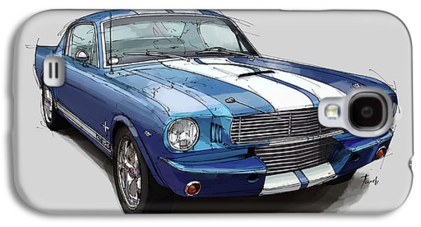 Mustang Shelby 1965 Handmade Drawing For Man Cave Galaxy S4 Case