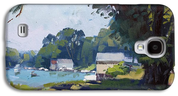 My Demonstration At Plein Air Workshop At Mayors Park Galaxy S4 Case by Ylli Haruni