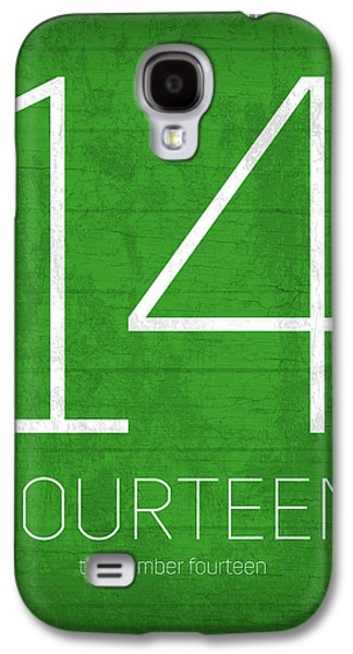 My Favorite Number Is Number 14 Series 014 Fourteen Graphic Art Galaxy S4 Case