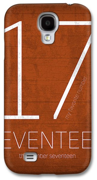 My Favorite Number Is Number 17 Series 017 Seventeen Graphic Art Galaxy S4 Case