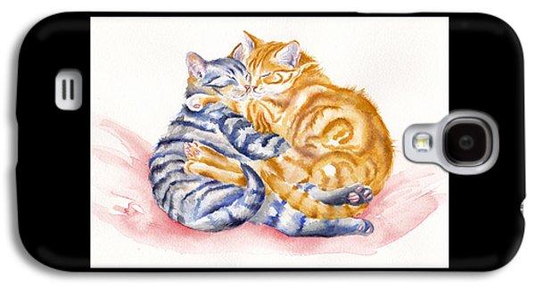 Cat Galaxy S4 Case - My Furry Valentine by Debra Hall