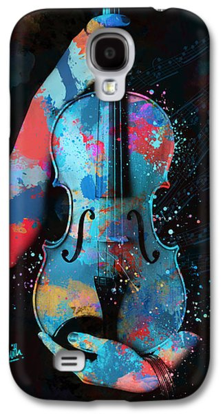 My Violin Whispers Music In The Night Galaxy S4 Case by Nikki Marie Smith