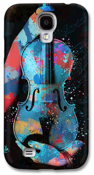 Sound Digital Galaxy S4 Cases - My Violin Whispers Music in the Night Galaxy S4 Case by Nikki Marie Smith