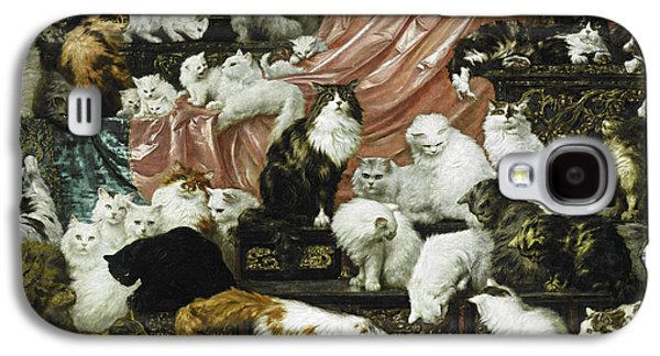 Peach Galaxy S4 Case - My Wife's Lovers by Carl Kahler