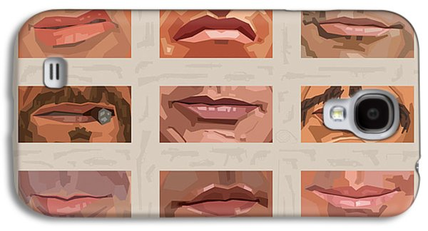 Mystery Mouths Of The Action Genre Galaxy S4 Case by Mitch Frey