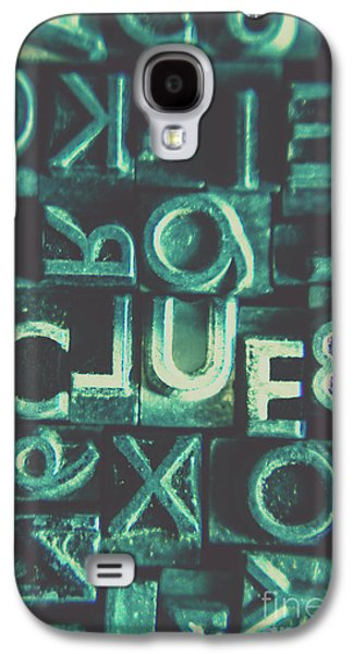 Mystery Writer Clue Galaxy S4 Case by Jorgo Photography - Wall Art Gallery