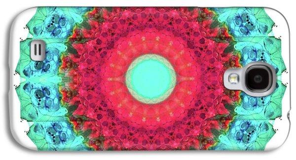 Mystic Circle Mandala - Sharon Cummings  Galaxy S4 Case by Sharon Cummings