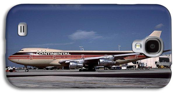 N17011, Continental Airlines, Boeing 747-143 Galaxy S4 Case