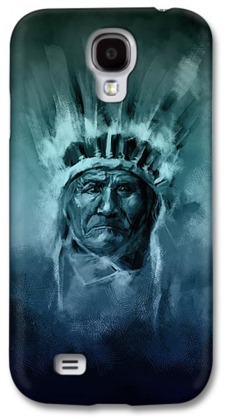 Naive American Chief-geronimo 2 Galaxy S4 Case by Bekim Art