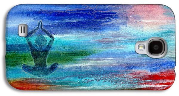 Chakra Rainbow Paintings Galaxy S4 Cases - Namaste Galaxy S4 Case by The Art With A Heart By Charlotte Phillips