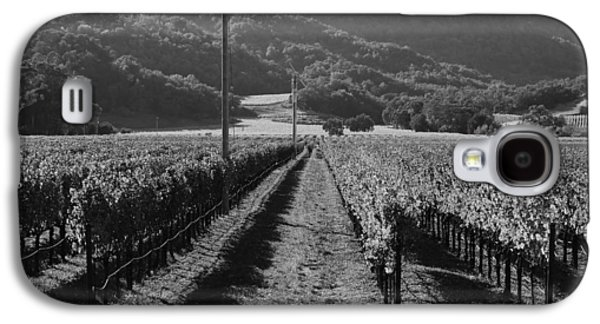 Pastoral Vineyards Galaxy S4 Cases - Napa Valley Vineyard .  Black and White . 7D9020 Galaxy S4 Case by Wingsdomain Art and Photography
