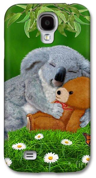 Naptime With Teddy Bear Galaxy S4 Case by Glenn Holbrook