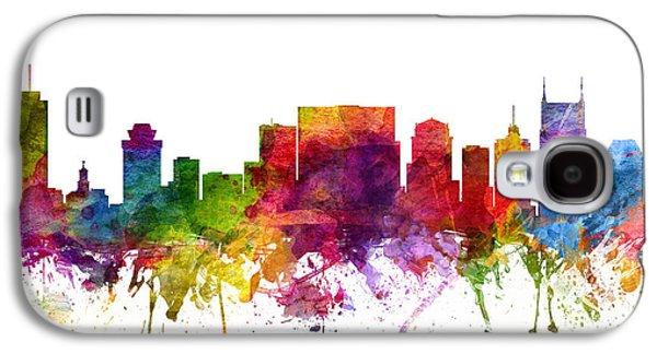 Nashville Skyline Galaxy S4 Case - Nashville Cityscape 06 by Aged Pixel