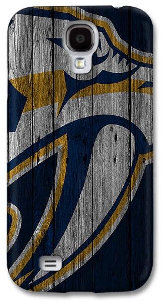 Nashville Predators Wood Fence Galaxy S4 Case by Joe Hamilton